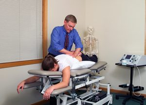patient receiving spine therapy