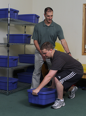 patient receiving sports medicine therapy
