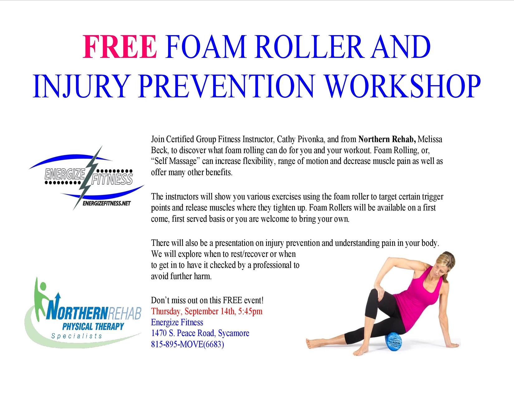 Buy foam roll physical therapy - Foam Rolling Injury Prevention Workshop Northern Rehabilitation Physical Therapy Specialists